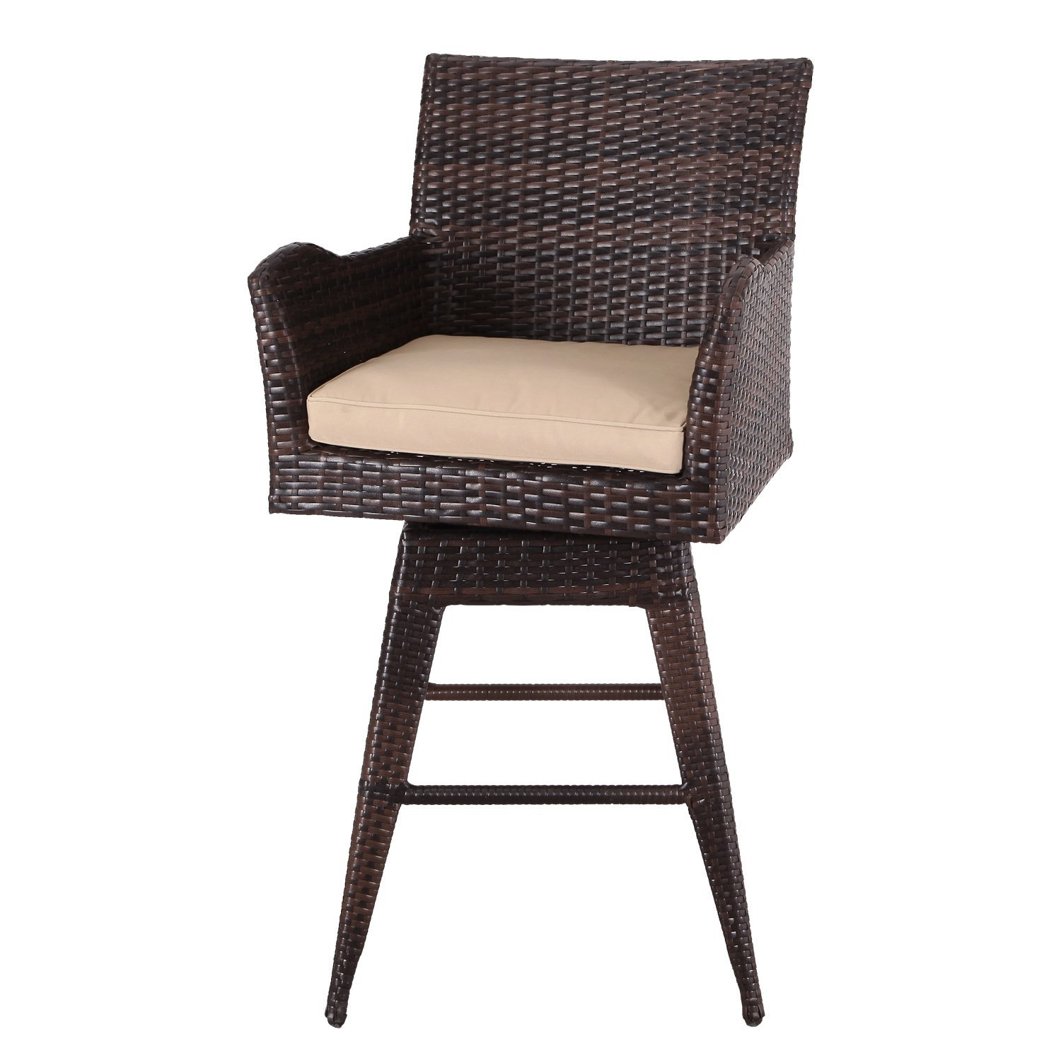 Adeco Patio Furniture Set Wicker Bar stools With Cushion  : 71cH3J0sZ0LSL1500 from www.ebay.com size 1500 x 1500 jpeg 183kB
