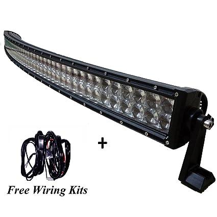 LED LIGHT BAR AngelMa 50 Inch 480w Osram Curved LED Light Bar Flood Spot  Combo Work