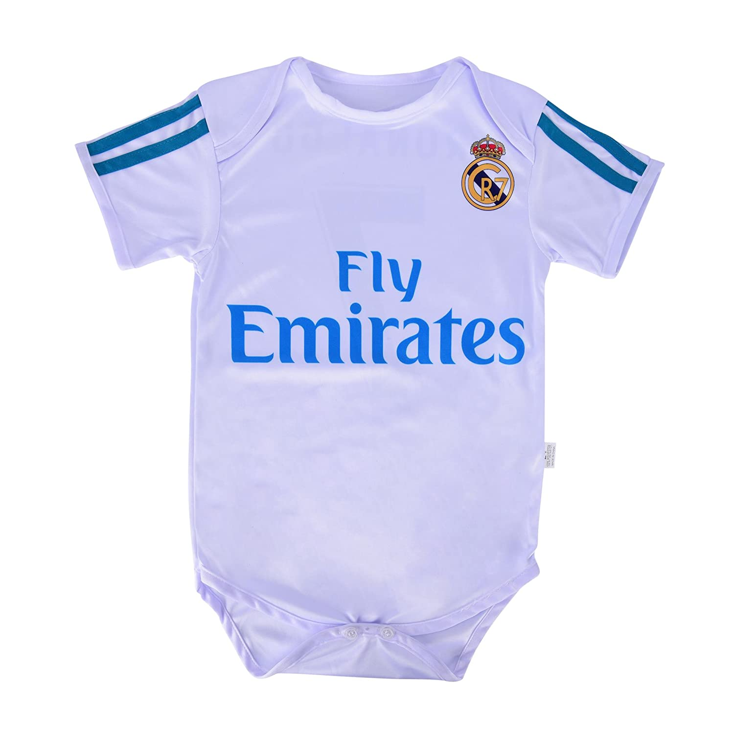 3a33d221c9ace Amazon.com   World Cup Baby Cristiano Ronaldo  7 Real Madrid Soccer Jersey Baby  Infant and Toddler Onesie Romper Premium Quality - Home and Away PACK OF 2  ...