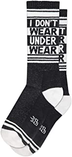product image for I DON'T WEAR UNDERWEAR Socks by Gumball Poodle, Ribbed Gym Socks Unisex Statement Gym Crew Socks