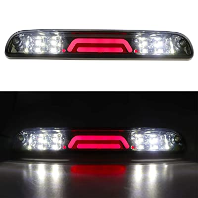 (Smoke) 3rd Brake Light for Ford F250 F350 Super Duty/Ranger/Explorer Sport/Mazda B-Series 3D Third Cargo Light LED Light Bar High Mount Lamp Stop Tail Light Chrome Housing: Automotive