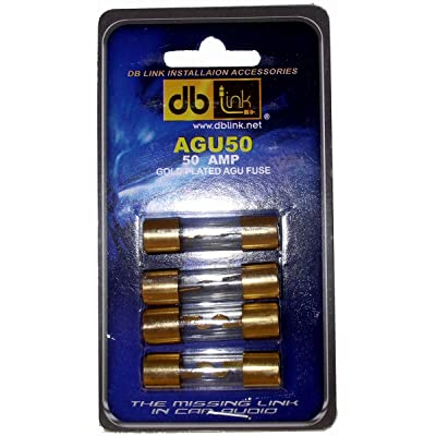 DB Link AGU50 50 Amp Gold AGU Fuses: Car Electronics