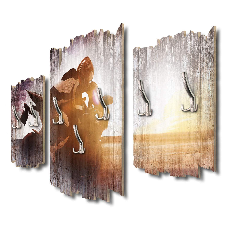 Kreative Feder Highspeed Designer Wandgarderobe Flurgarderobe Wandpaneele 95 x 60 cm aus MDF DTGH125