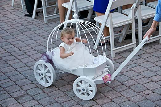 Amazon.com: Angel Cinderella Carriage - Gloss White: Baby