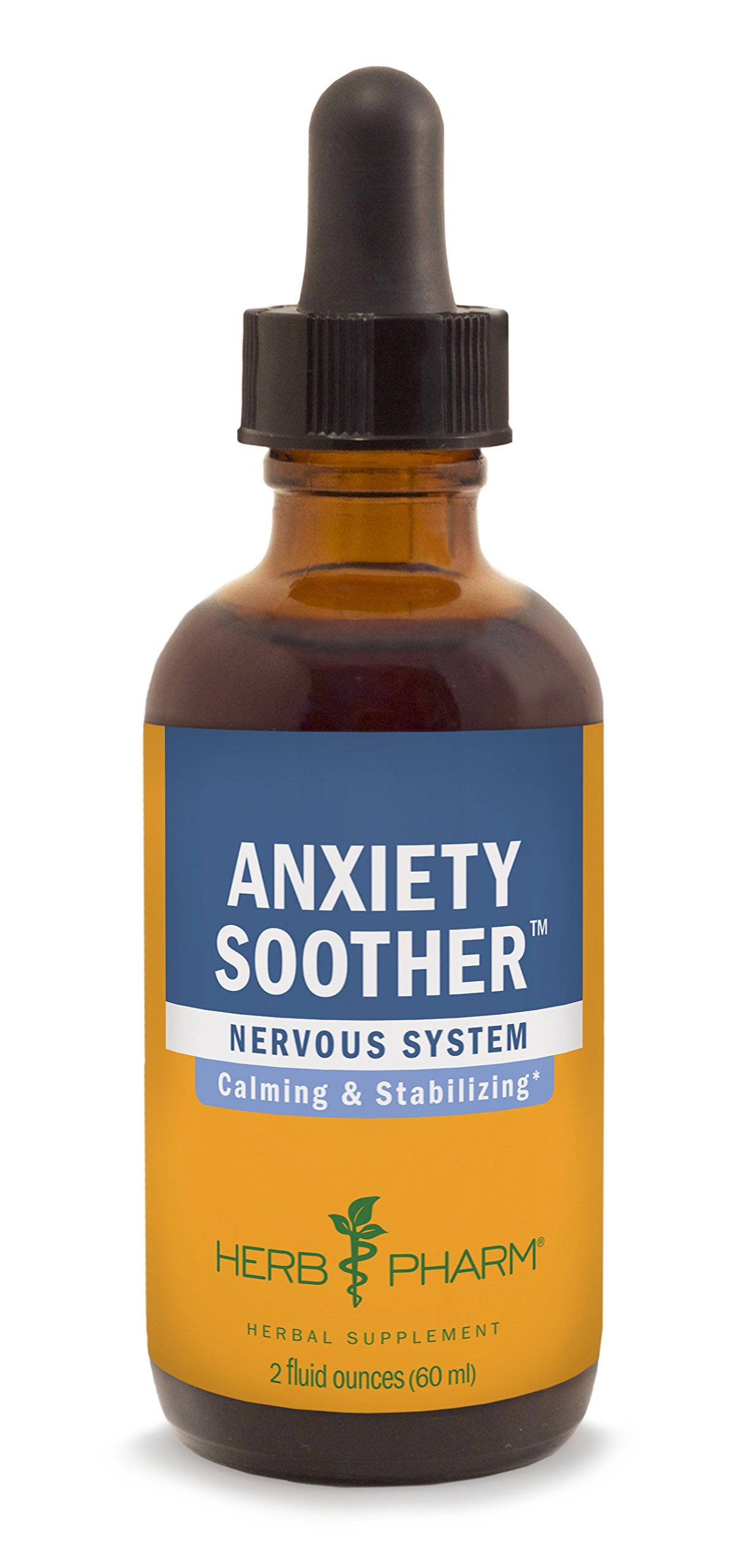 Herb Pharm Anxiety Soother Herbal Formula with Kava For Nervous System Support - 2 Ounce