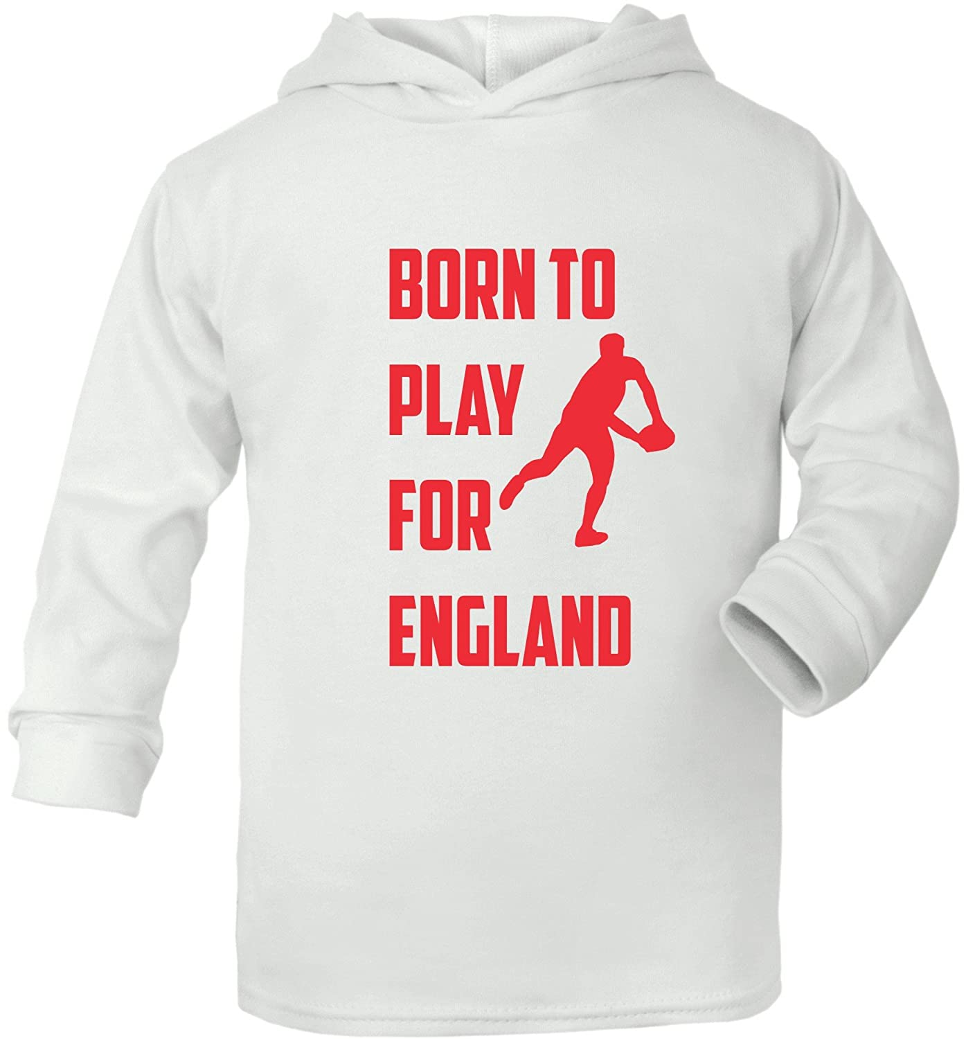 Print4u Born To Play For England Rugby Supersoft Baby Hoodie