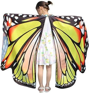 Dragon868 Disfraz de alas de mariposa para niña, para disfraz de ...