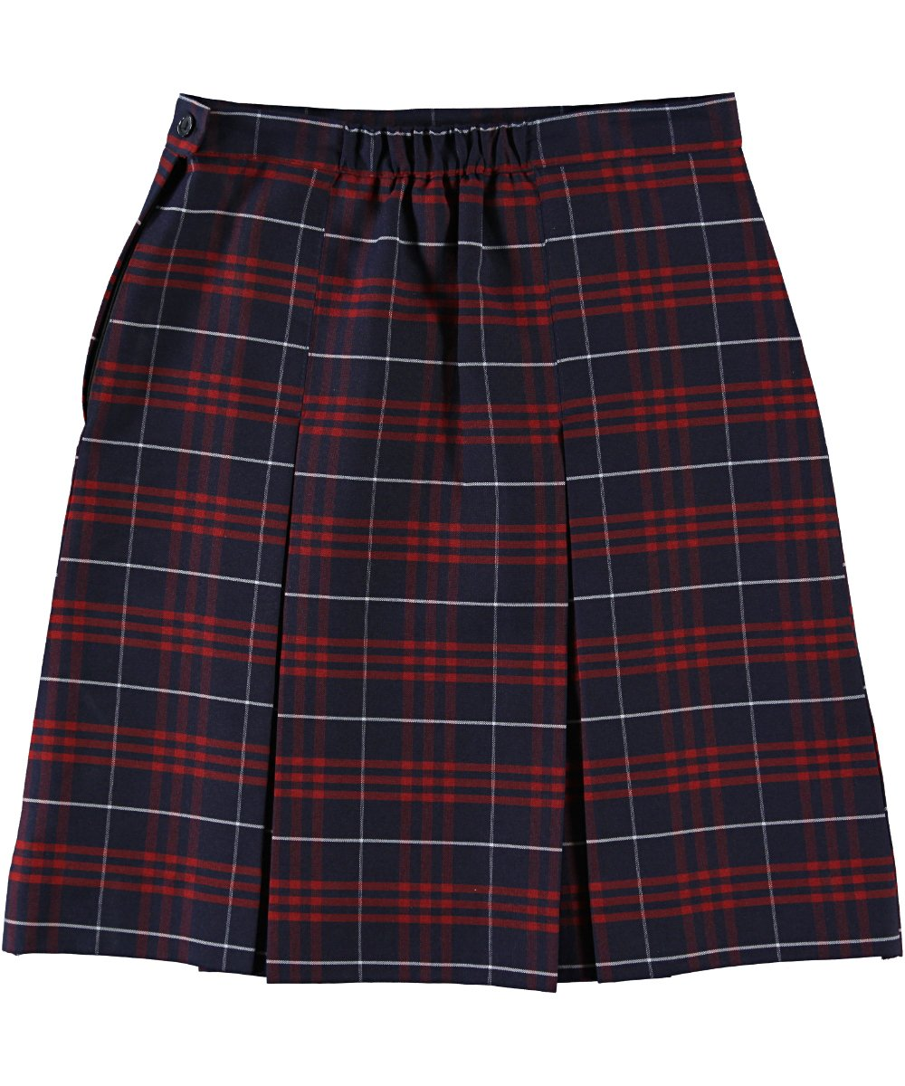 Cookie's Brand Big Girls' Box Pleat Skirt - navy/red/whiteplaid #37, 7 by Cookie's Kids (Image #3)