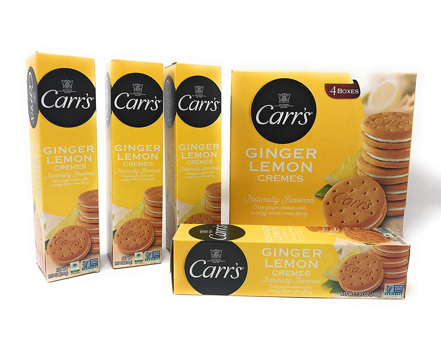 Carr's Ginger Lemon Creme, 7.05-Ounce Boxes (Pack of 12) by Carr's