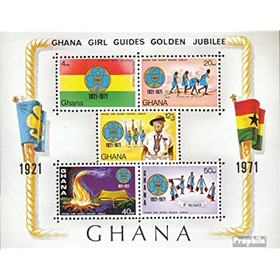 ghana block42 (complète.Edition.) 1971 pfadfinderinnen (Timbres pour les collectionneurs)