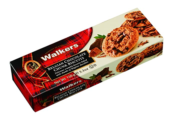 Walkers - Galletas Con Trozos De Chocolate Belga 150 g: Amazon.es: Alimentación y bebidas