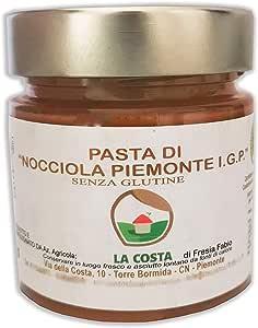 Pasta De Avellana Pura 100% Solo Avellanas Tostadas - Italianas Piamontés - Para Helados, Postres, Pasteles - 200 GR