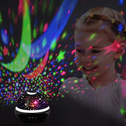 Juguetes para niños de 4 a 5 años, Wiki Lámpara con luces divertidas y frescas para la noche Lámpara para niños Luz de la estrella de la luna relajante ...