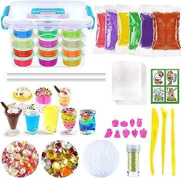 ESSENSON DIY Slime kit Schleim Selber Machen mit 12 Farben Crystal Clay Slime 4