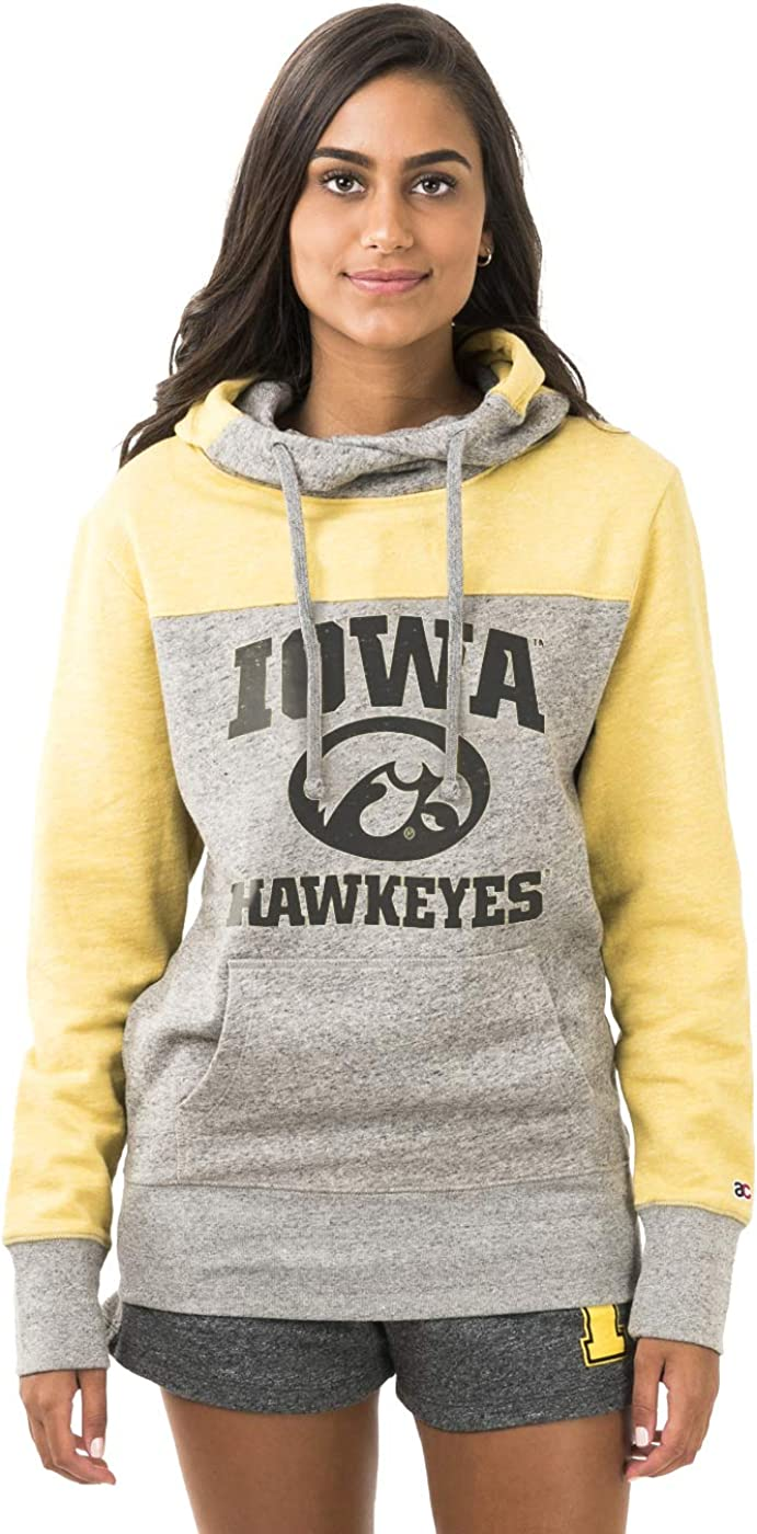 NCAA College Sweatshirt American Collegiate University of Iowa Womens Hoodie