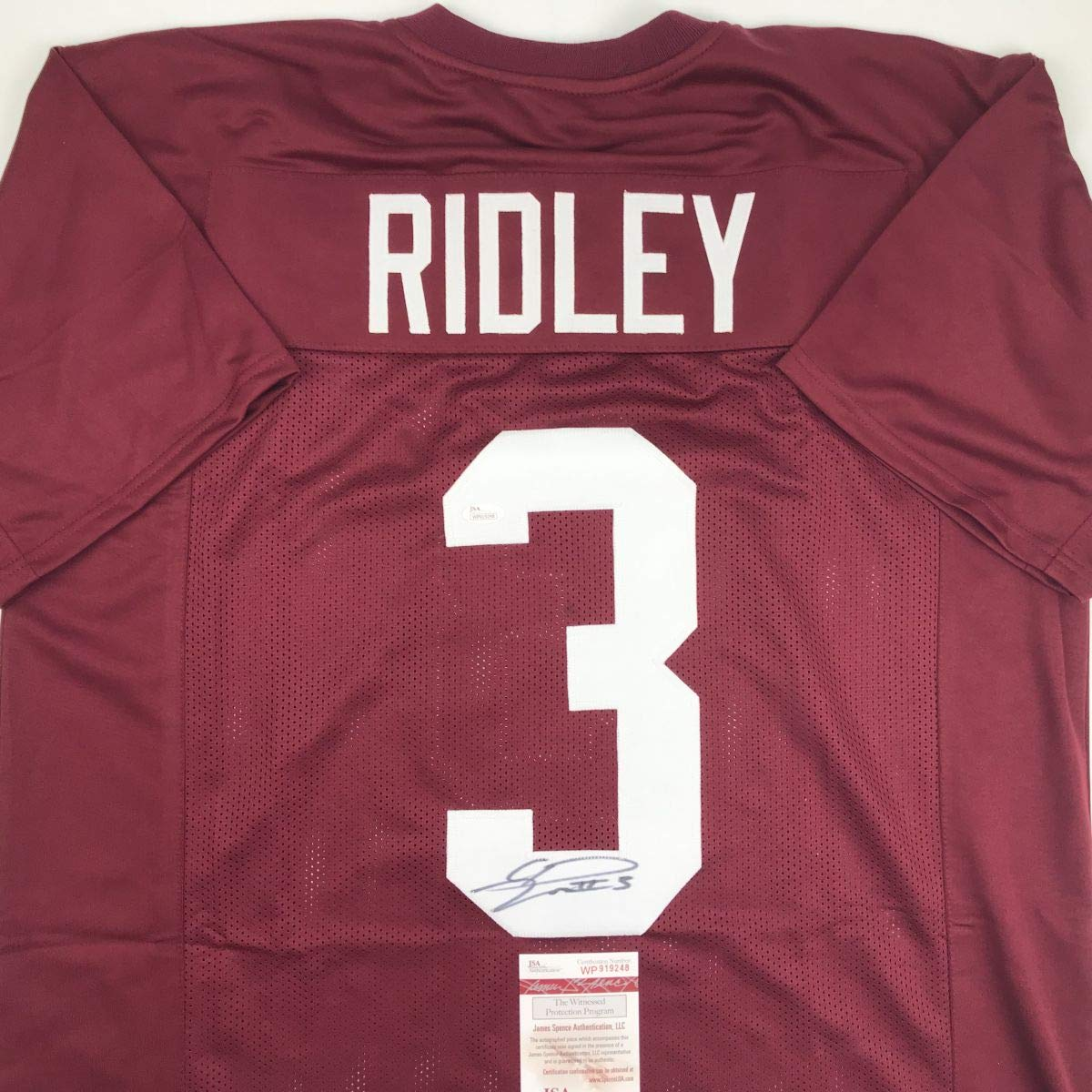 Autographed Signed Calvin Ridley Alabama Maroon College Football Jersey JSA  COA at Amazon s Sports Collectibles Store e54b6a875