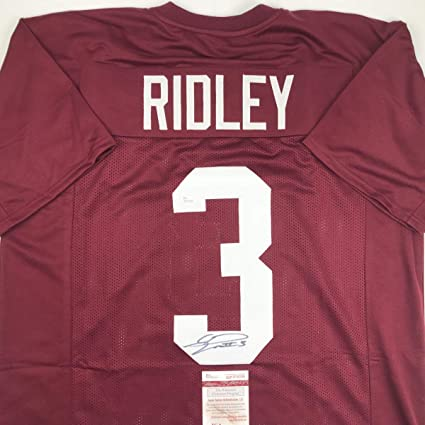 bf6080248 Image Unavailable. Image not available for. Color  Autographed Signed  Calvin Ridley Alabama Maroon College Football Jersey ...