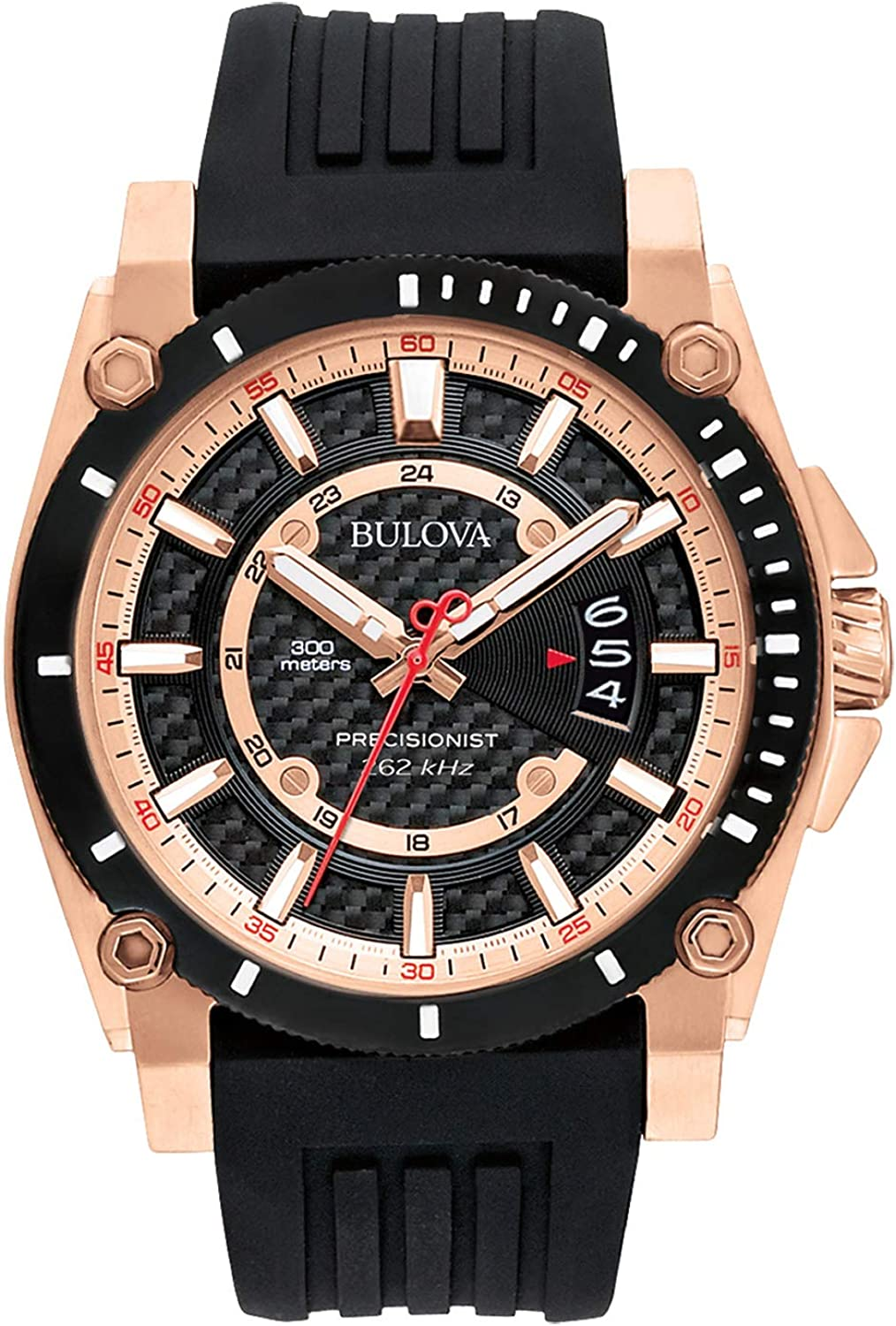 Amazon.com: Bulova Men's 98B152 Precisionist Analog Chronograph Black Watch: Bulova: Watches