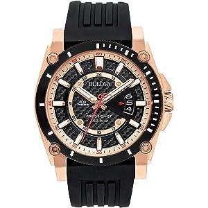 Bulova Mens 98B152 Precisionist Analog Chronograph Black Watch