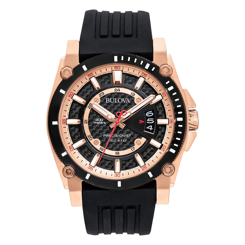 70879e319 Amazon.com: Bulova Men's 98B152 Precisionist Analog Chronograph Black Watch:  Bulova: Watches