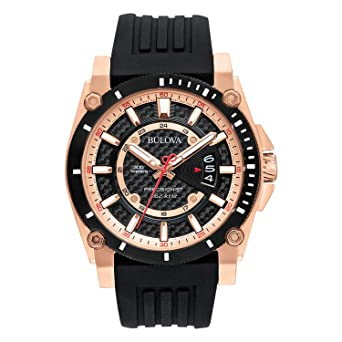 42968e9fd Image Unavailable. Image not available for. Color: Bulova Men's 98B152  Precisionist Analog Chronograph Black Watch