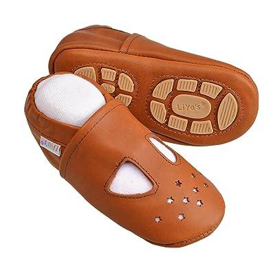 Liya's , Chaussures souples pour bébé (fille) Marron Ockerbraun