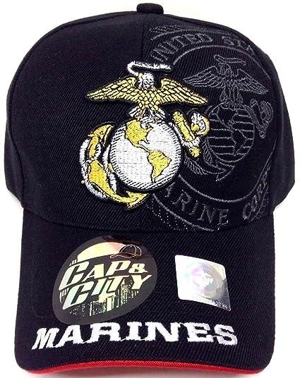 Black Logo Marines USMC United States Marine Corps Hat Cap