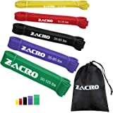 Zacro Pull up Assist Bands - 5 Packs Exercise Resistance Bands Heavy Duty Resistance Bands for Workout Body Stretching, Powerlifting, Resistance Training