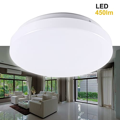 New 7 Round Led Flush Mount Ceiling Light 4000k Kitchen: Amzdeal® 18W LED Round Recessed Ceiling Panel Down Light