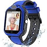 4G GPS Kids Smartwatch Phone - Boys Girls Waterproof Watch with GPS Tracker 2 Way Call Camera Voice & Video Chat SOS Alarm Pe