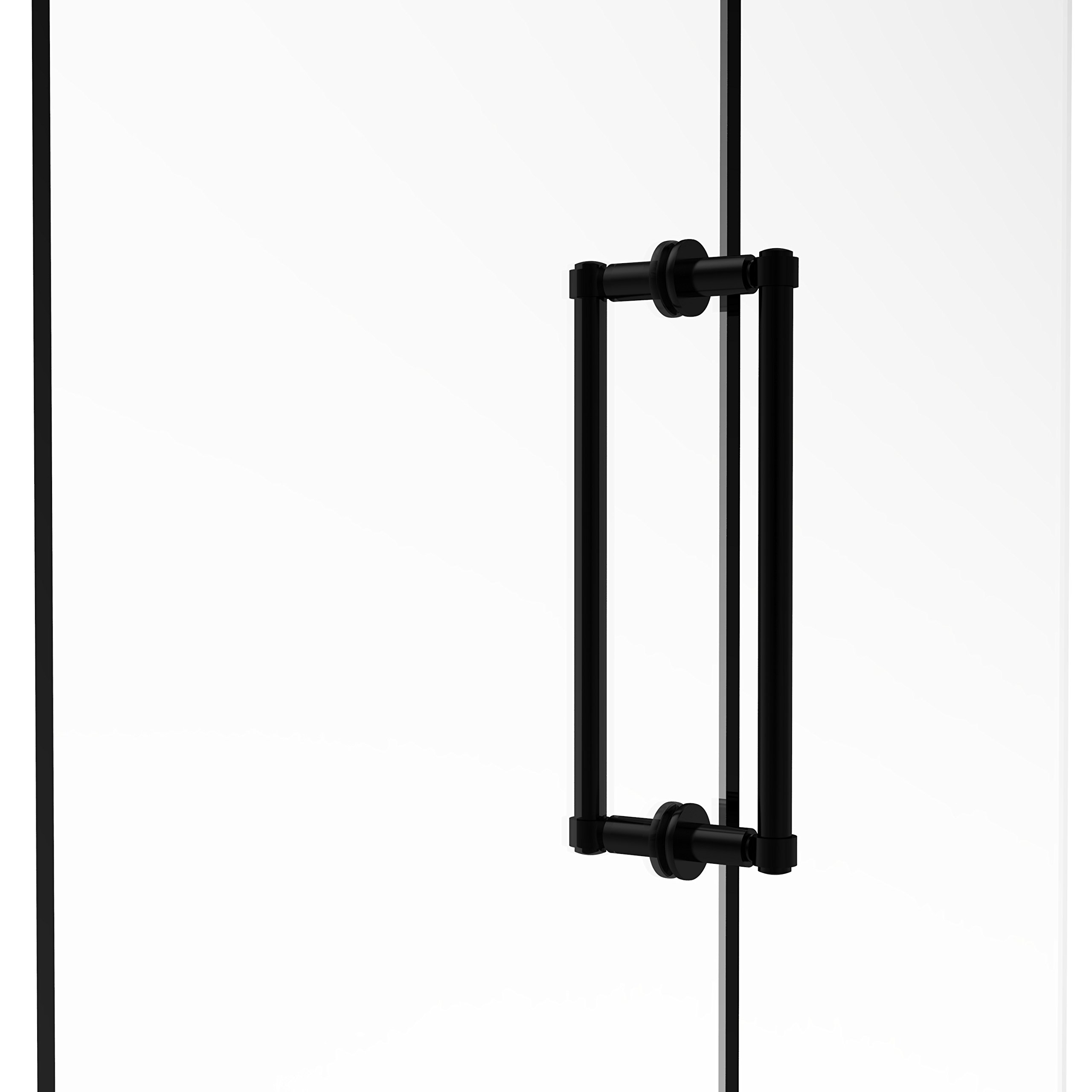 Allied Brass 405-12BB-BKM Contemporary 12'' Back To Back Shower Door Pull,