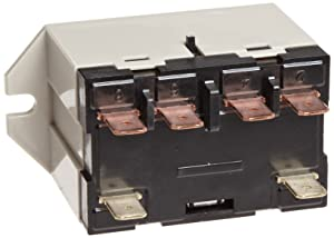 Omron G7L-2A-TUB-J-CB-AC24 General Purpose Relay With Test Button, Class B Insulation, QuickConnect Terminal, Upper Bracket Mounting, Double Pole Single Throw Normally Open Contacts, 71 mA Rated Load Current, 24 VAC Rated Load Voltage