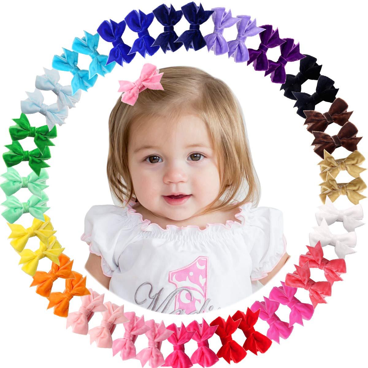 - Little Girls Hair Bows s Velvet hair Bows Bows for Pigtails Light Sage Velvet Bow Pink Baby Girl Heeadband