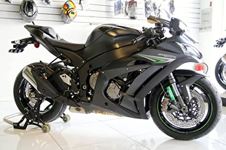 Amazon.com: FocusAtOne Flat Black Complete Fairing Bodywork ...