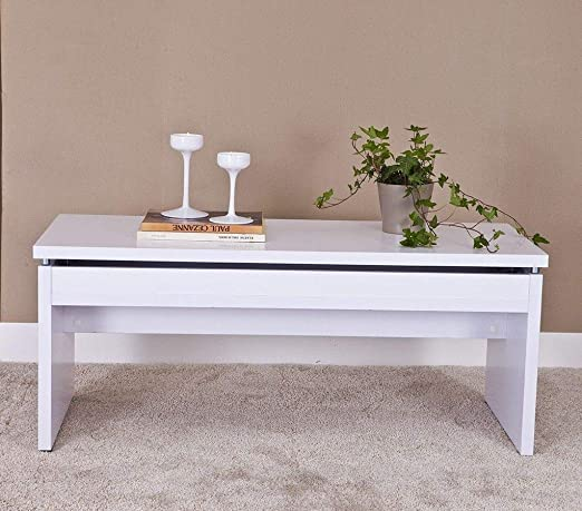 TOP KIT | Mesa de Centro Manhattan 2028-120 x 50 x 50 | Blanco ...