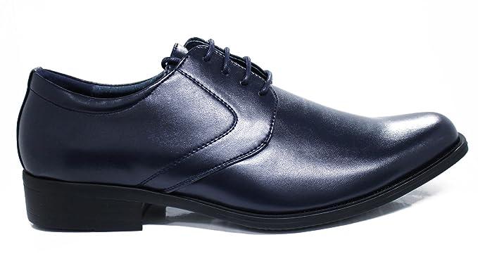 Scarpe uomo class blu scuro vernice eleganti cerimonia nuove  Amazon ... 1dcdd86fd7f