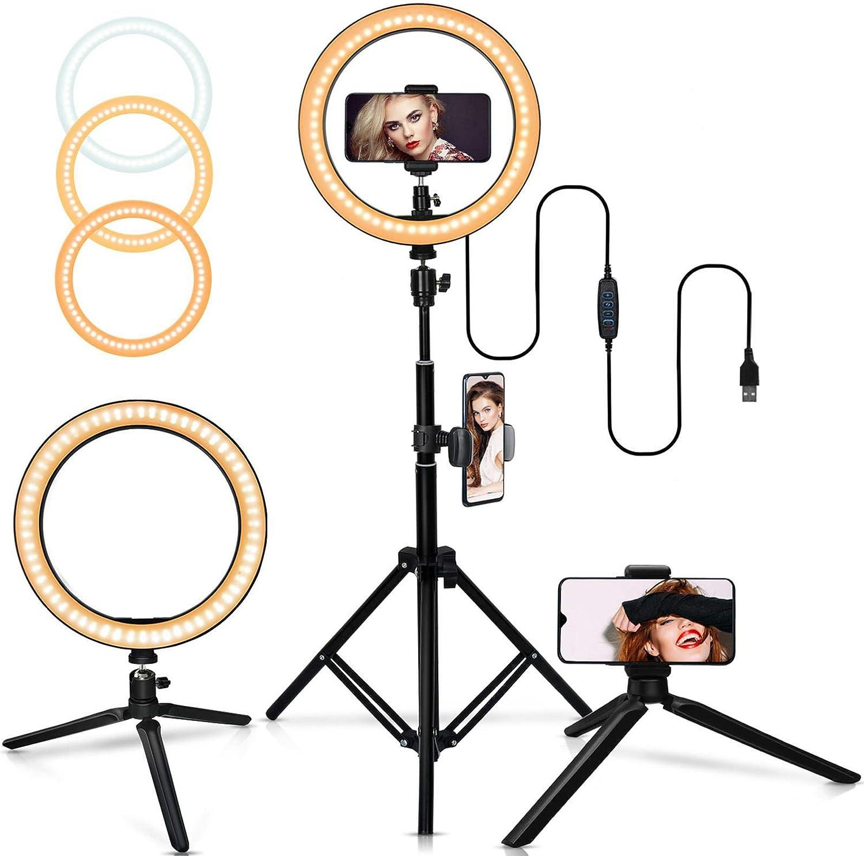 Luz De Anillo Led Tr/ípode De Luz De Relleno De Anillo Interfaz USB Led Regulable Selfie Luz De Anillo C/ámara Tel/éfono Fotograf/ía Video Maquillaje L/ámpara Tr/ípode Clip De Tel/éfono