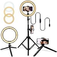 Belifu Selfie Ring Light con soporte de trípode ajustable, 3 modos 10 niveles de brillo, luz LED con soporte para…