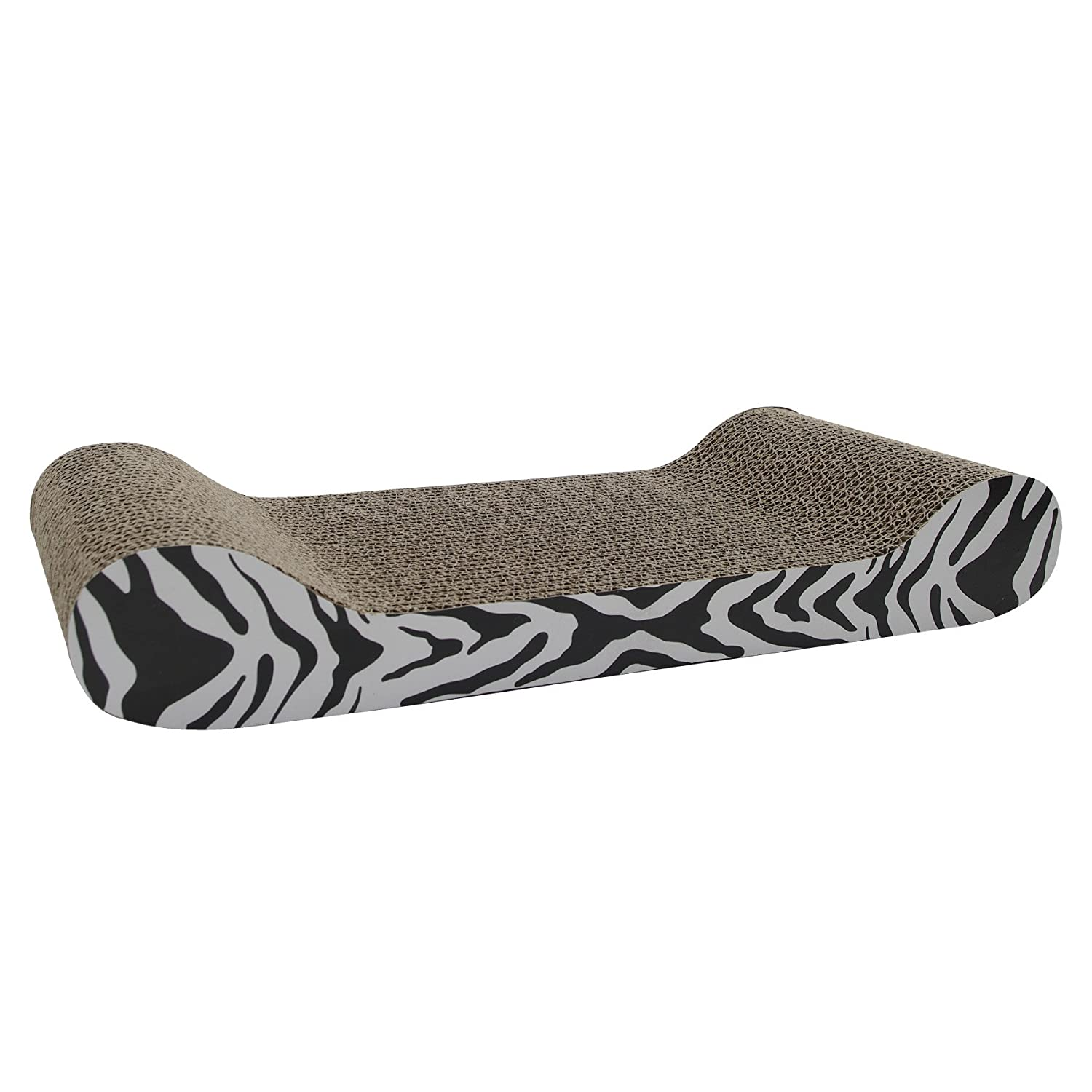 Catit Style Scratcher With Catnip Tiger Is Lounge Shaped Corrugated  Cardboard Scratcher. Product Comes With Organic Catnip And Provides Your Cat  Scratching ...