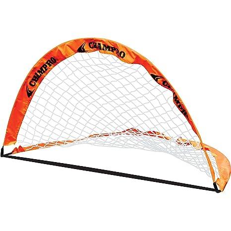 11bc3b84b Amazon.com : Champro Fold-Up Goal Individual (Orange, 6 x 4-Feet) : Soccer  Goals : Sports & Outdoors
