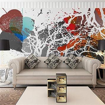 zyyaky Wallpaper Wohnkultur Tapete 3D Moderne Graffiti Kunst ...