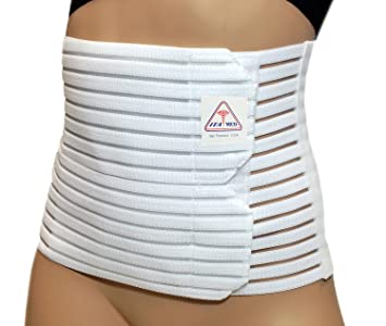 "ITA-MED Womens Breathable 8"" Wide Abdominal Light Support Binder White ..."