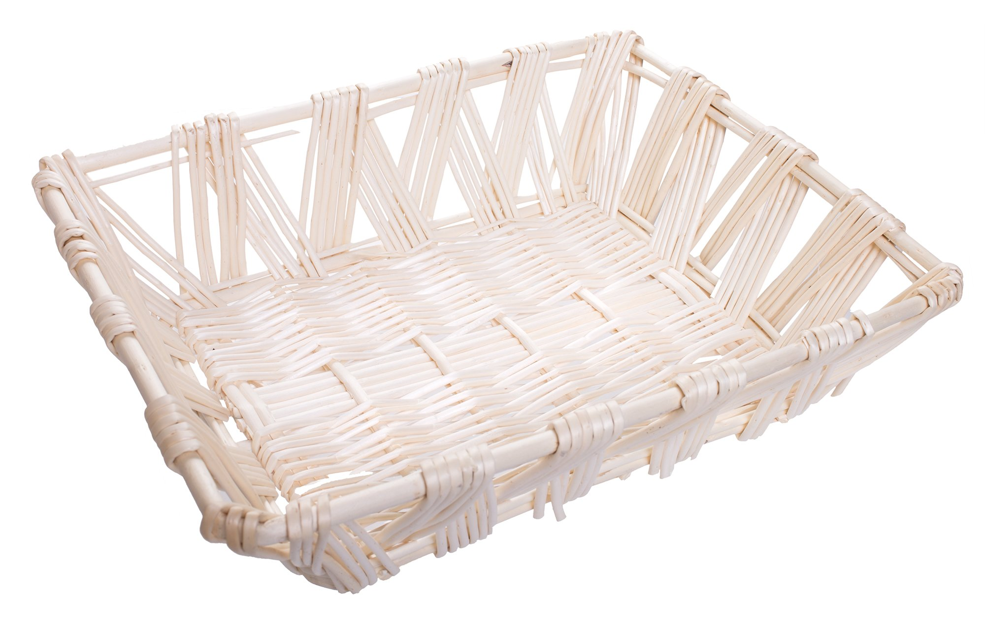 Willow Storage File Tray in White Finish - 15 x 12 x 4.5 Inches