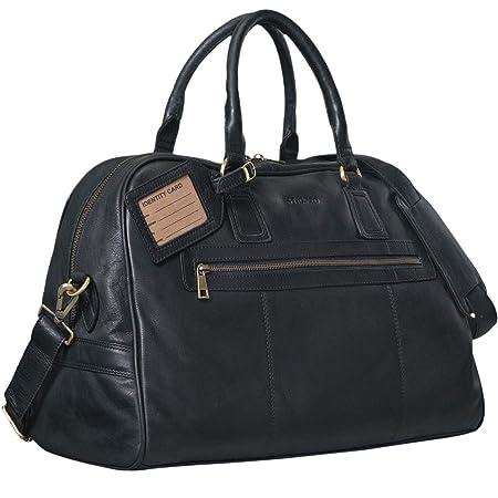 6ddc7f8daf STILORD Large Vintage Duffle Travel Bag  Dakota  in Cabin Size Handbag or  Shoulder Bag Genuine Leather Buffalo