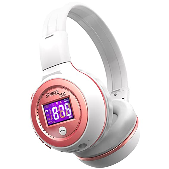 4f7d1f93e08 Image Unavailable. Image not available for. Color: Bluetooth Headphone  Wireless Headset With Microphone FM Radio Micro SD Card Play,Red,China
