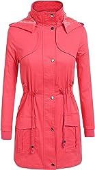ACEVOG Women's Zip Up Military Anorak Jacket Coat With Pockets
