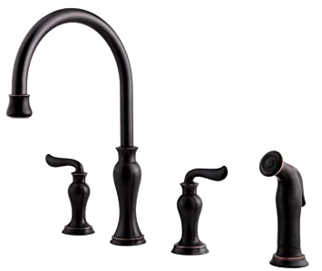 Price Pfister F0314vay Florentino Hight Arc 4 Hole Kitchen Faucet