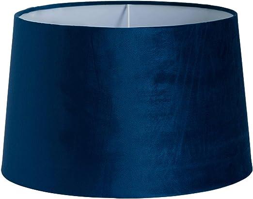 Pantalla para lámpara de techo de terciopelo azul marino, 40 cm: Amazon.es: Iluminación
