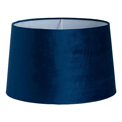 Pantalla para lámpara de techo de terciopelo azul marino, 40 ...