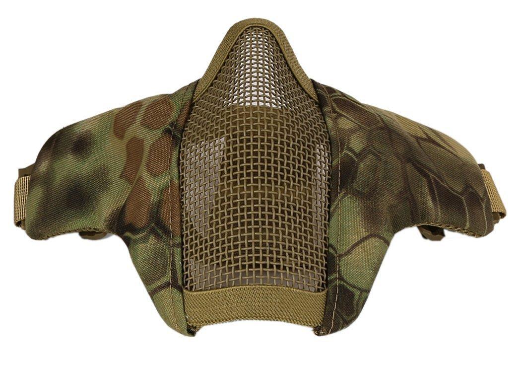 Leisuretime Airsoft Maske, Taktische Faltbare Halbe Gesichtsmaske Streik Stahl Paintball Maske Outdoor Schutzaus